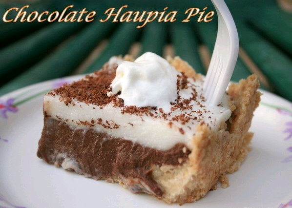 The Chocolate Haupia Pie recipe comes in two parts: a crust containing ...